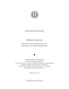 History and Theory-lehden. dun suurkatastrofit eivät olleet mahdollisia Helsingissä.