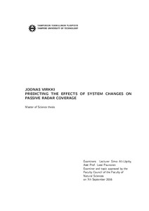 Predicting the Effects of System Changes on Passive Radar Coverage
